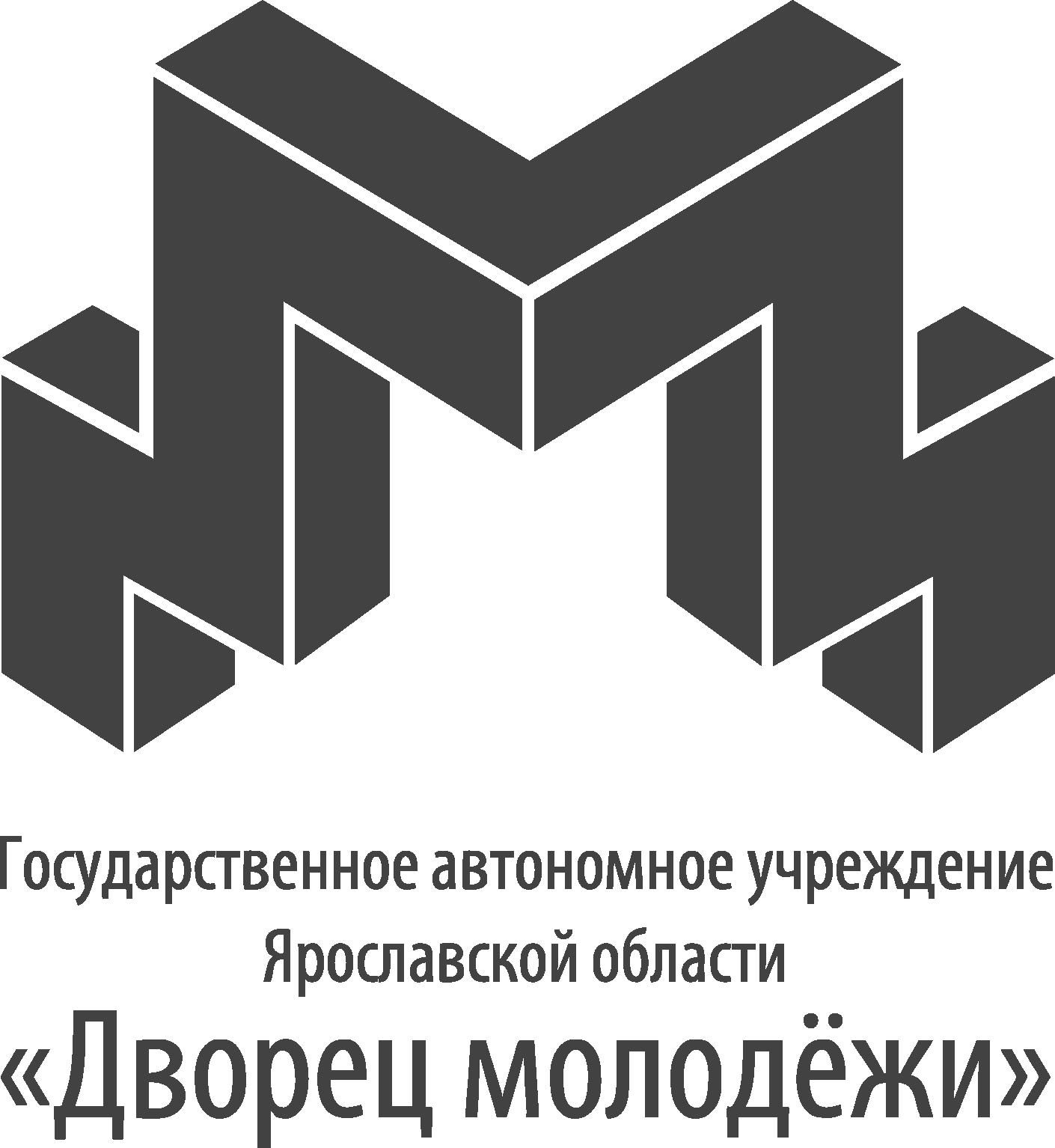 Логотип ДМ черно-белый